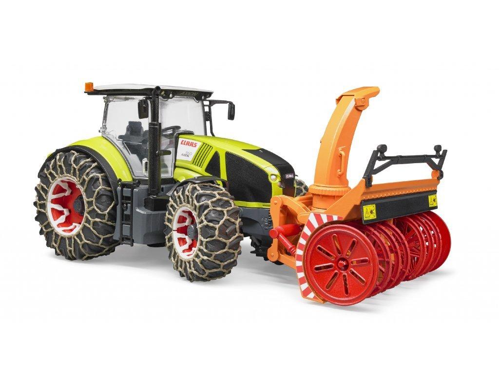 2313 1 bruder 3017 traktor claas axion 950 se snehovou frezou
