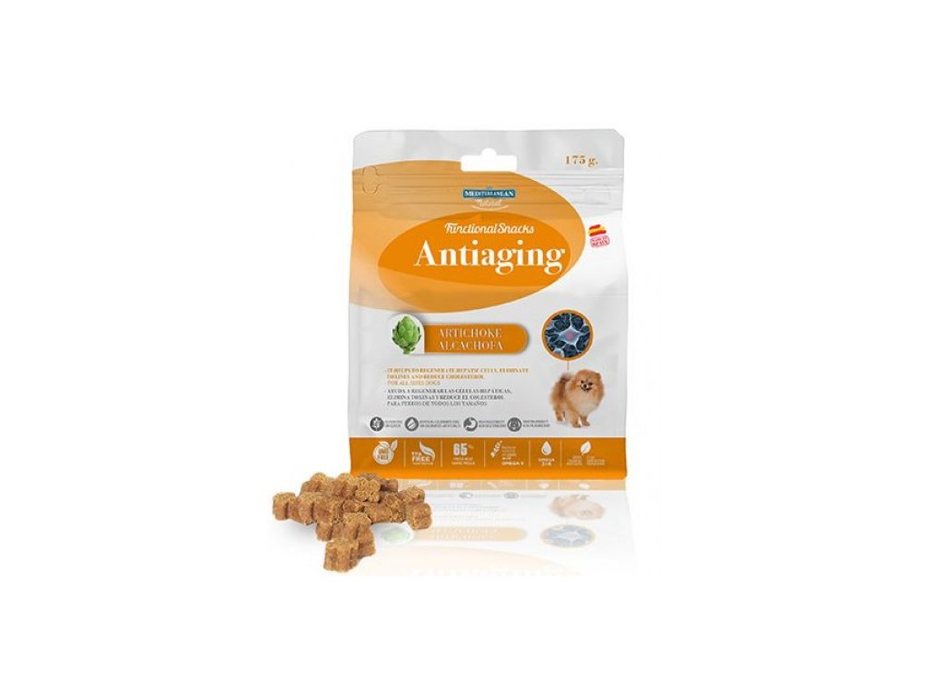 antiaging for Dog 175g funkcni pamlsek proti starnuti 500x500