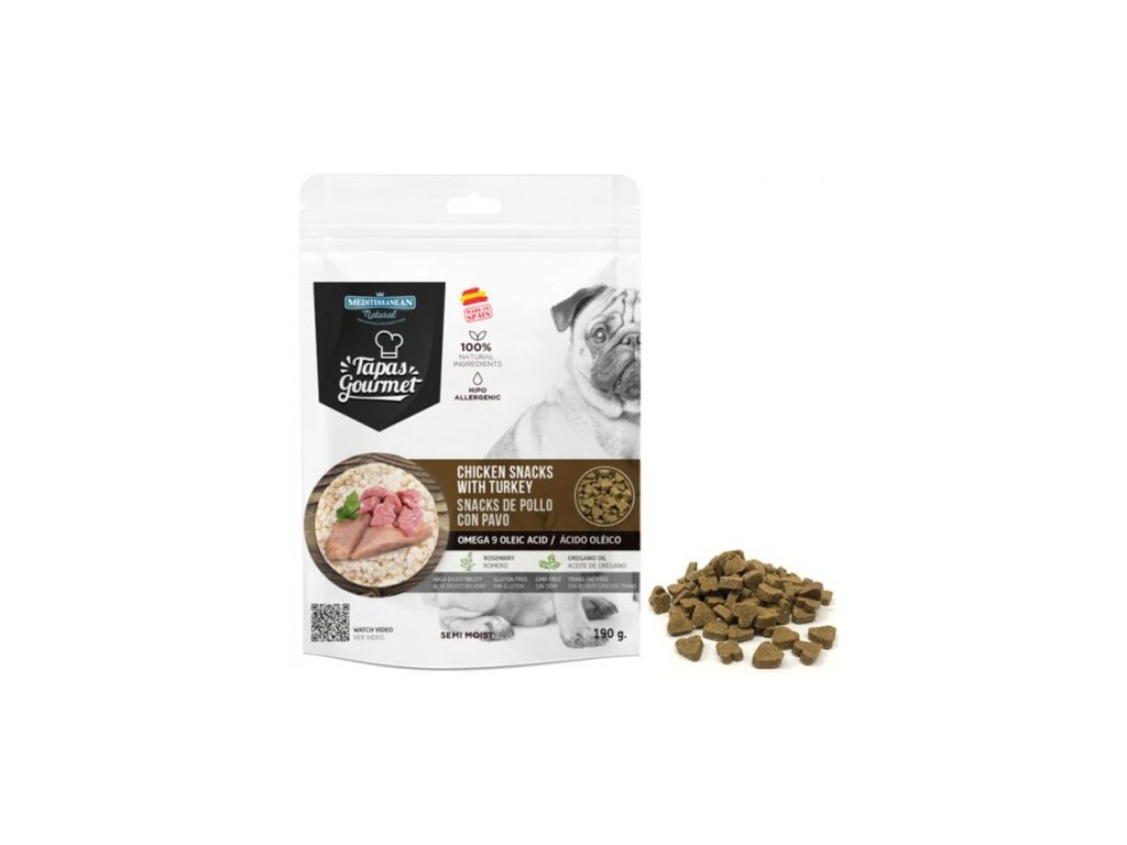 tapas gourmet snack for dog chicken and turkey 500x500