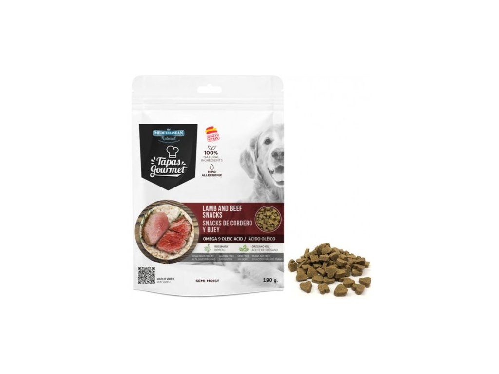 tapas gourmet snack for dog lamb and beef 500x500