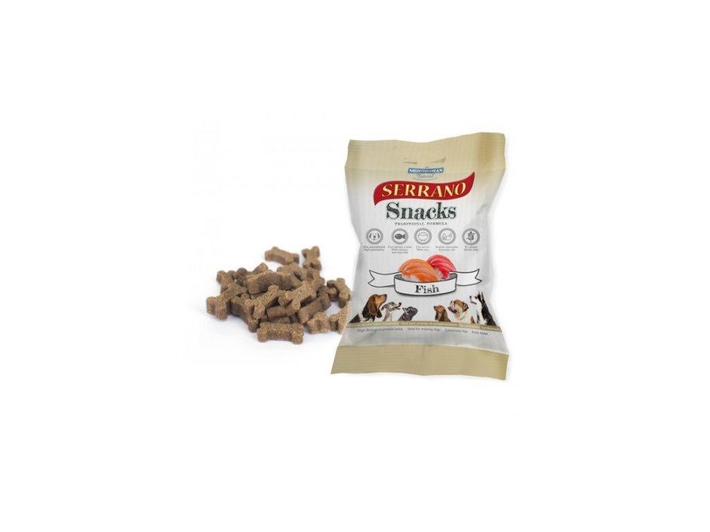 serrano snack for dog salmon & tuna 100 g meditky treninkove kosticky 500x500