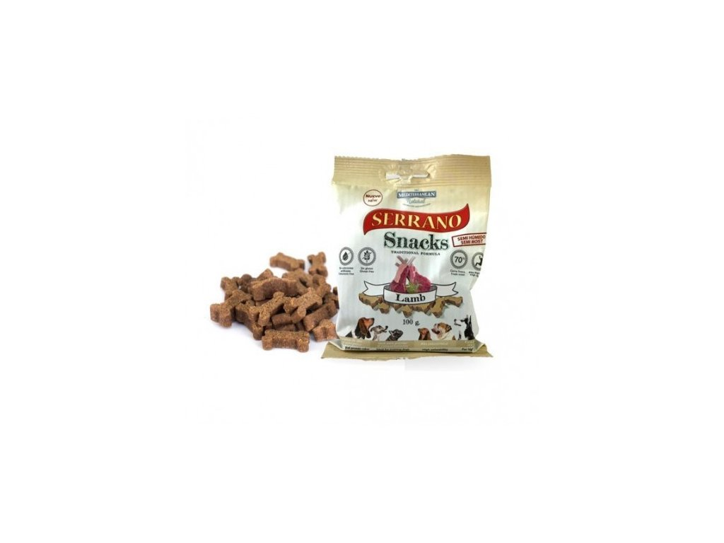 serrano snack for dog lamb 100 g meditky treninkove kosticky 500x500