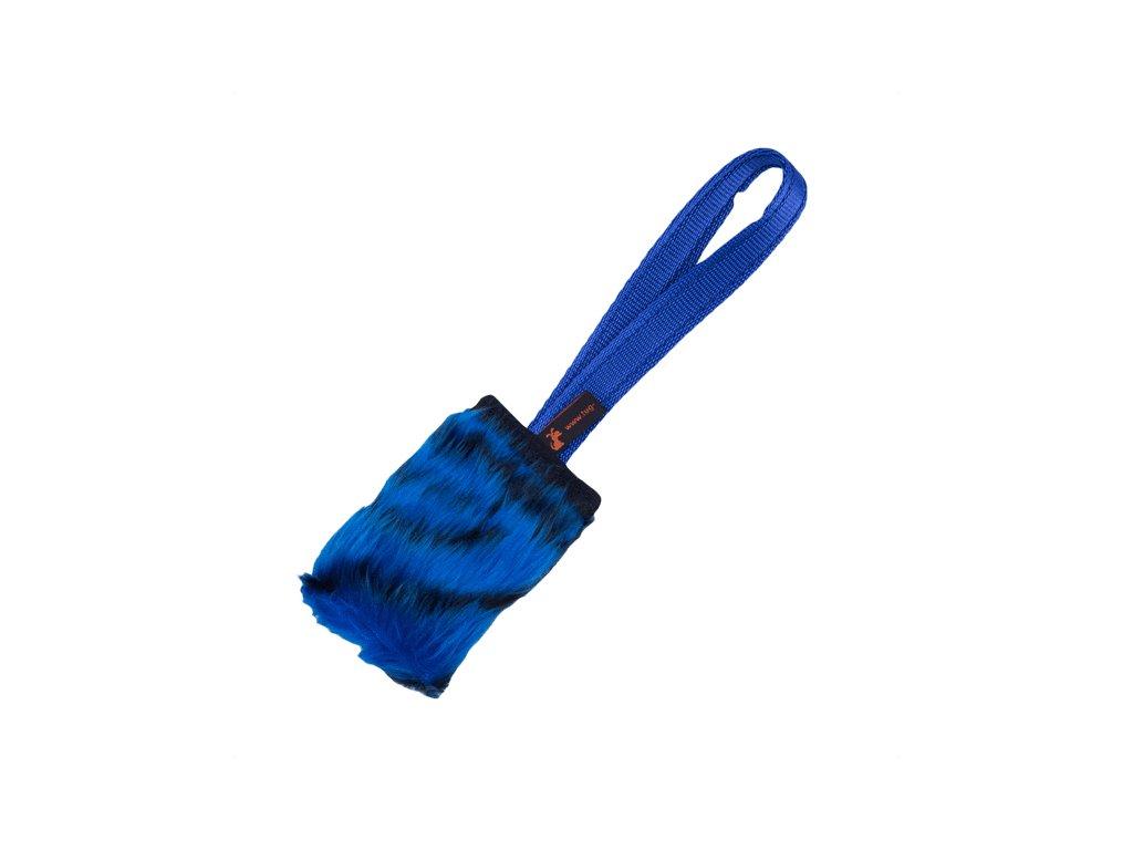 Faux Fur Pocket Squeaker Blue Tiger Print x700