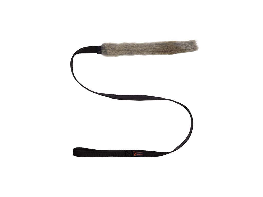 Tug E Nuff Dog Gear Rabbit Skin Chaser Black Handle x700