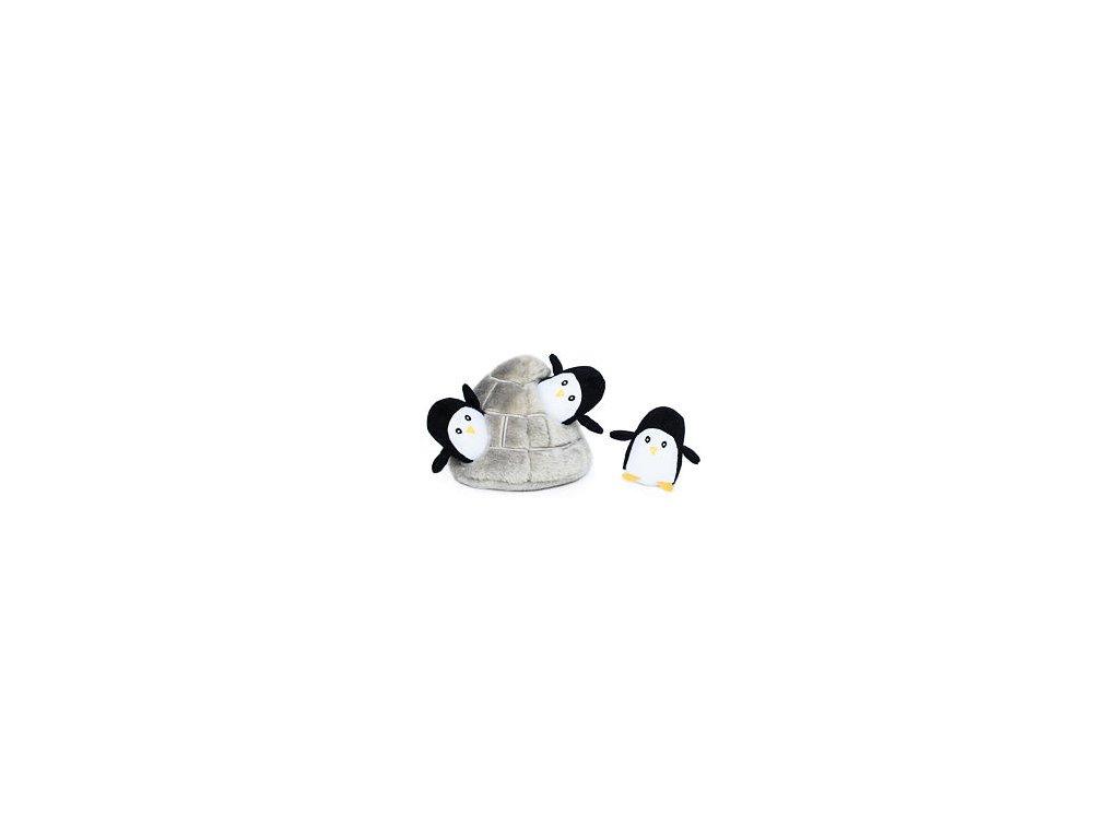 Tučňáci v jeskyni