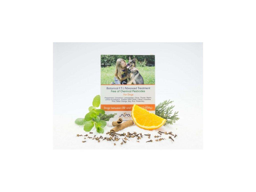 Bylinné antiparazitní pipety pro psy 10-25 kg