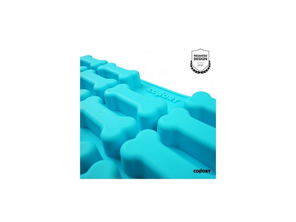 silikonova pecici formicka na pamlsky collory kosticky 7x3 cm tyrkysova (2)