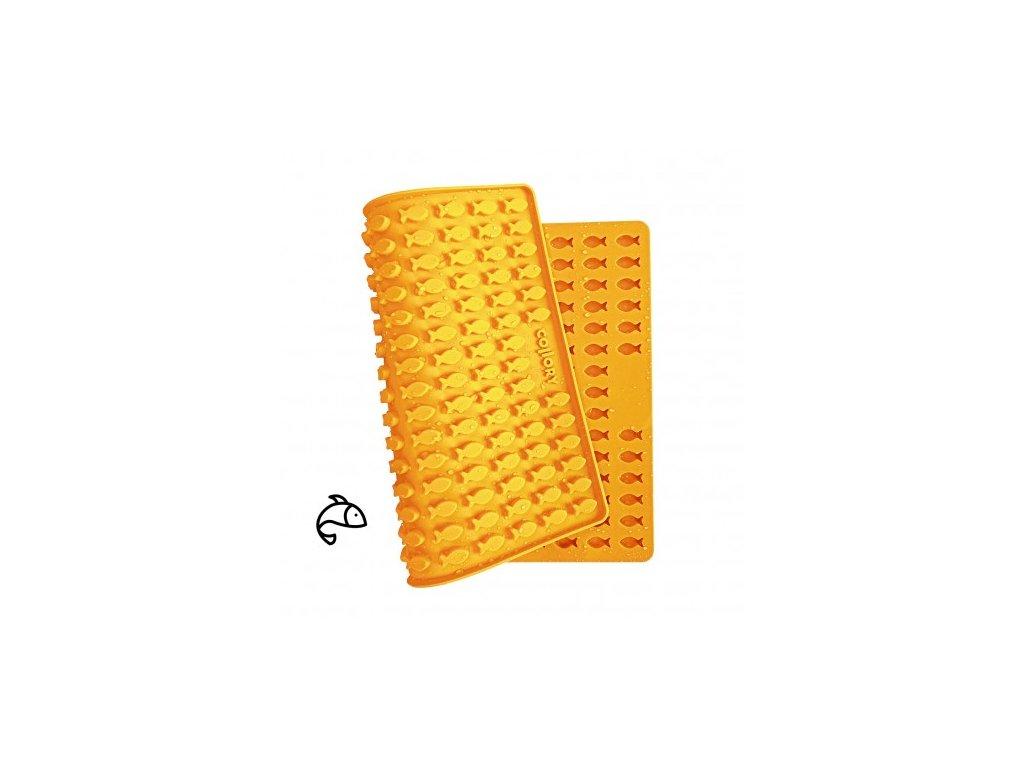 silikonova pecici formicka na pamlsky collory rybicky 2x1 cm oranzova