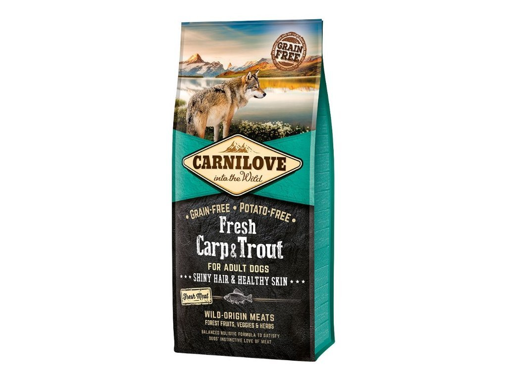 5205 carnilove dog fresh carp trout 12kg tenesco cz