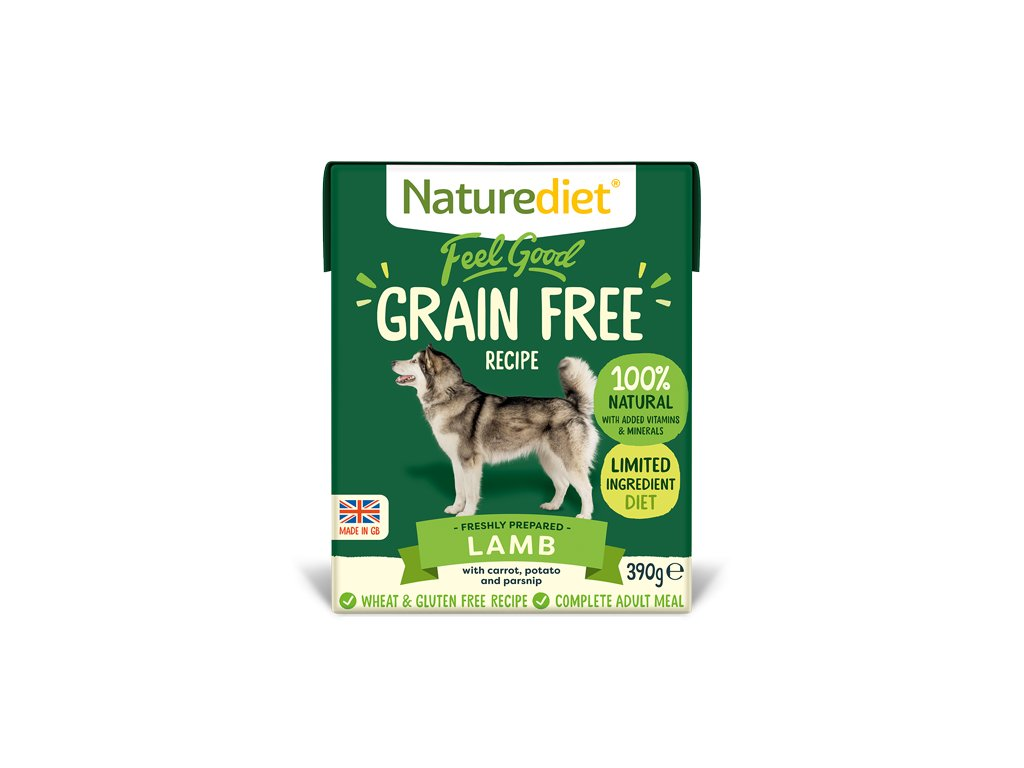 Feel Good Grain Free Dog Food Lamb 390g