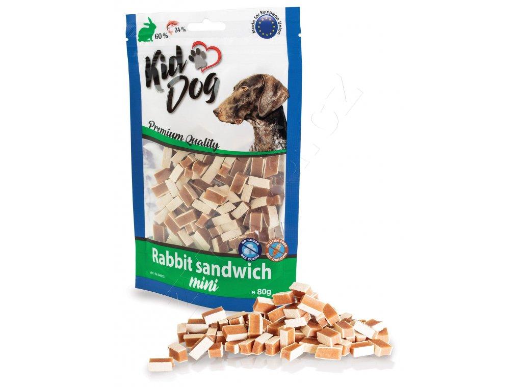 KIDDOG MINI králičí sendvič 80 g