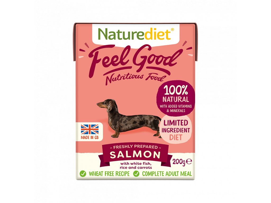 W2754 Naturediet 200g Tetra Pak Salmon Face On 1000x1000px