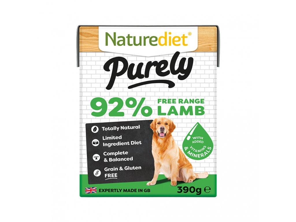 W2754 Naturediet 390g Purely Range Tetra Pak Lamb Face On 1000x1000px RGB