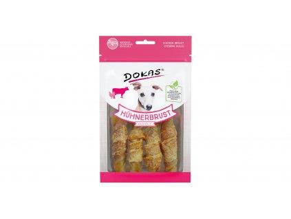 Dokas - Rolky z hovězí kůže obalené kuřecím 90 g
