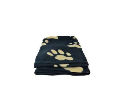 trixie deka pro psy barney cerna a hnede tlapky 150x100cm 27281