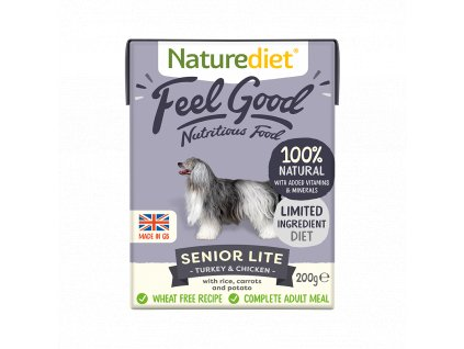 W2754 Naturediet 200g Tetra Pak Senior Lite Face On 1000x1000px
