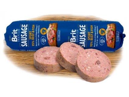 new brit sausage beeffish sport formula 800g 3.067