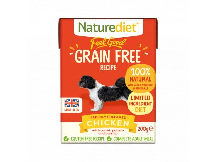 W2754 Naturediet 200g Tetra Pak GF Chicken Face On 1000x1000px