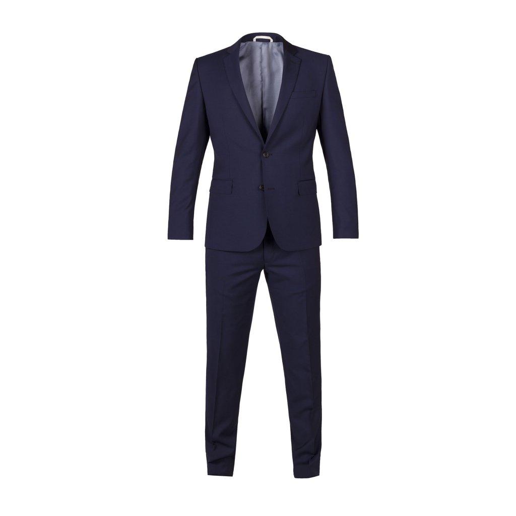 oblek marzotto ultra slim modry