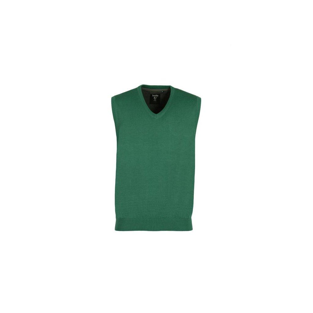 Pánská pletená vesta 20077 zelená (Velikost 50)