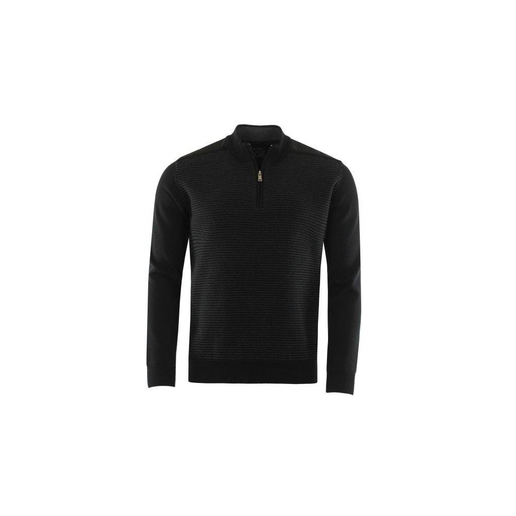 Pánský svetr 26777 (Velikost 52, Barva černá)