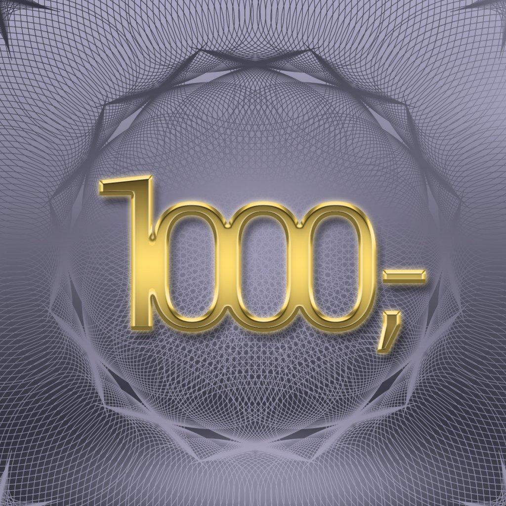 Dárkový poukaz v hodnotě 1 000 Kč (Způsob dodání Elektronicky - poslat e-mailem)