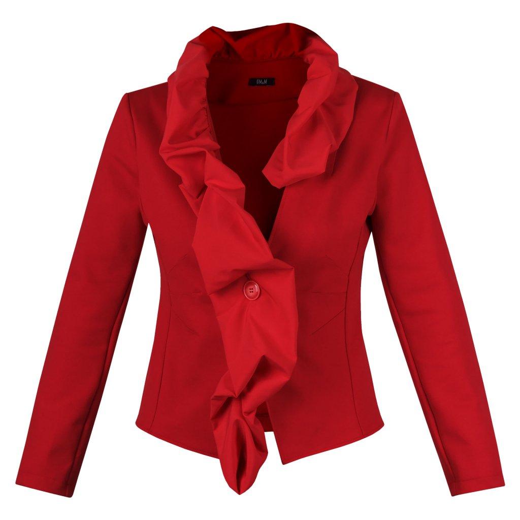 damske sako fashion cervena