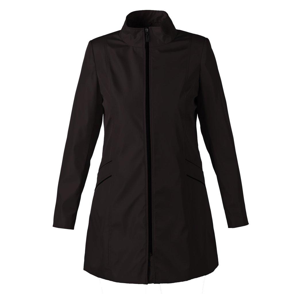 Dámský plášť černý lesklý