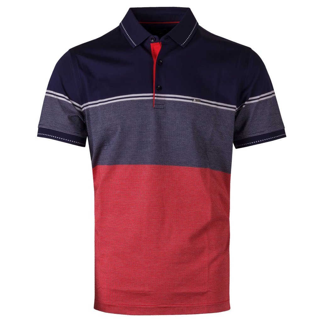 panske triko polo navy cervena