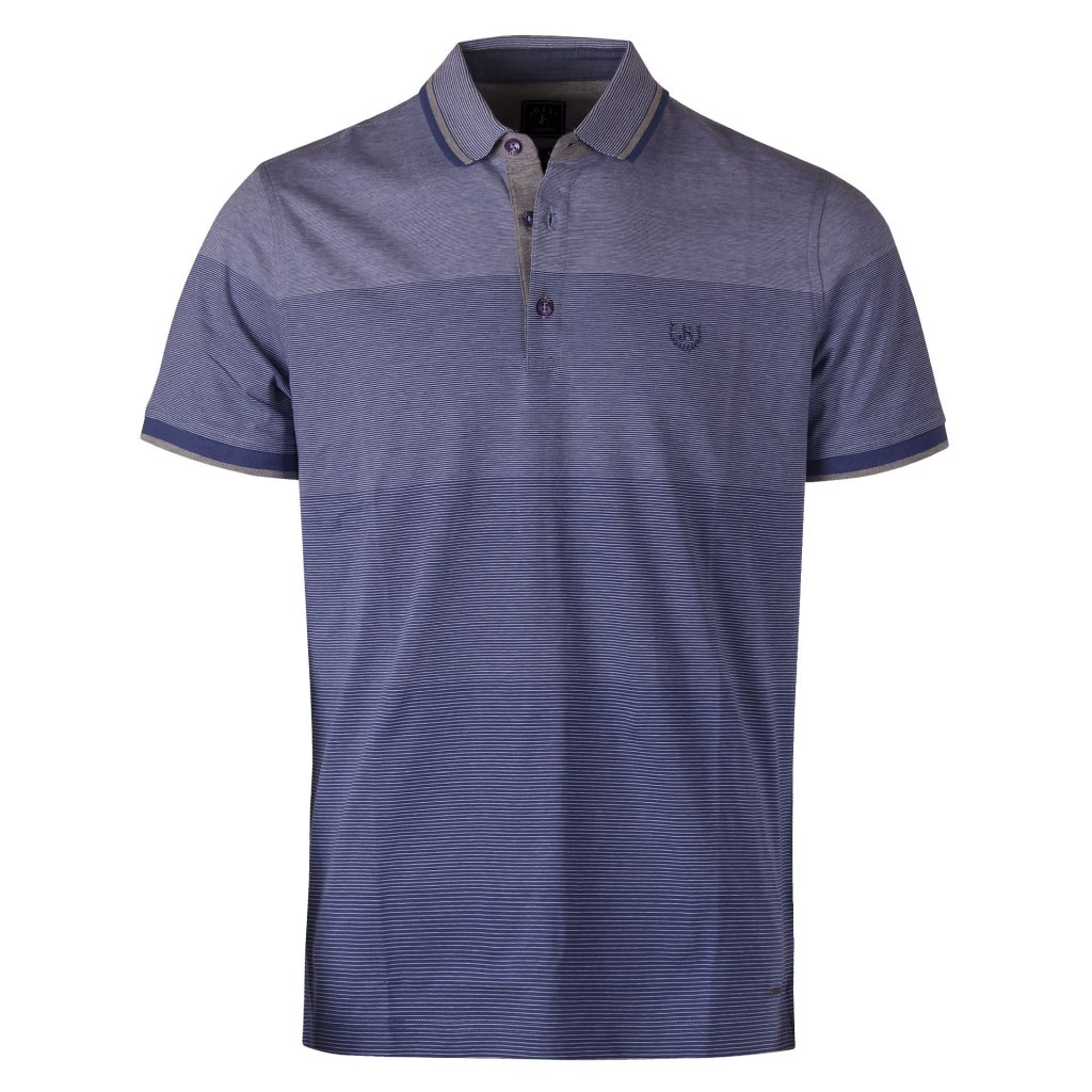 panske triko polo modra prouzek