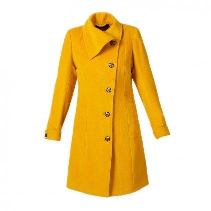 Dámský kabát 5236.1 (Velikost 38, Barva žlutá)