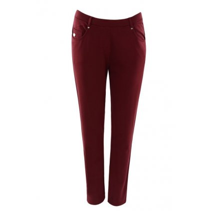 Dámské kalhoty 10094 (Velikost 36, Barva bordó)
