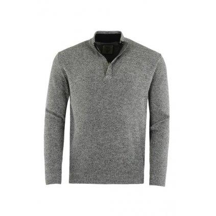 Pánský svetr 26771 (Velikost 50, Barva šedý melír)