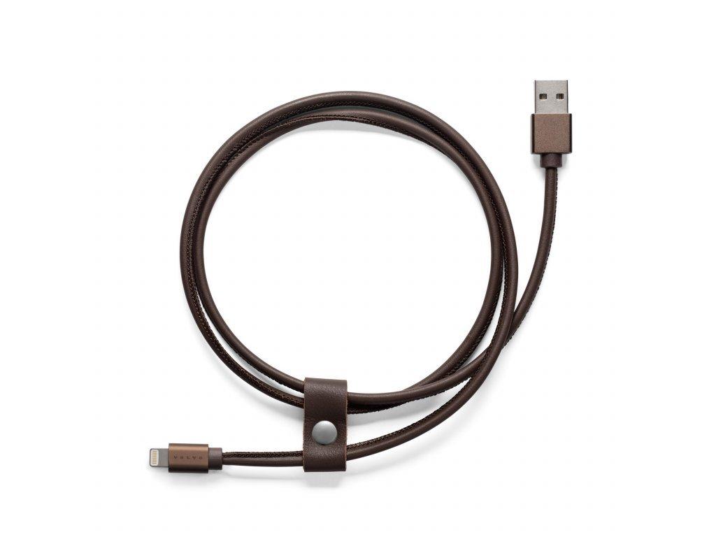 hnědý kabel pro iPhone