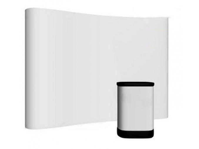 Pop-up stěna 3x4 prohnutá (Pop up stěna Stěna s potiskem 5 a více ks)