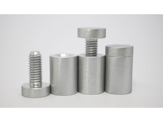 Distanční šroub hliník (kartáčovaný ) 19x25mm