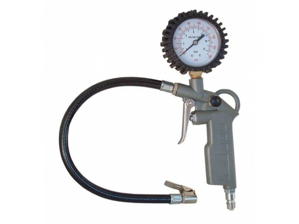 Pistole na huštění pneumatik s manometrem