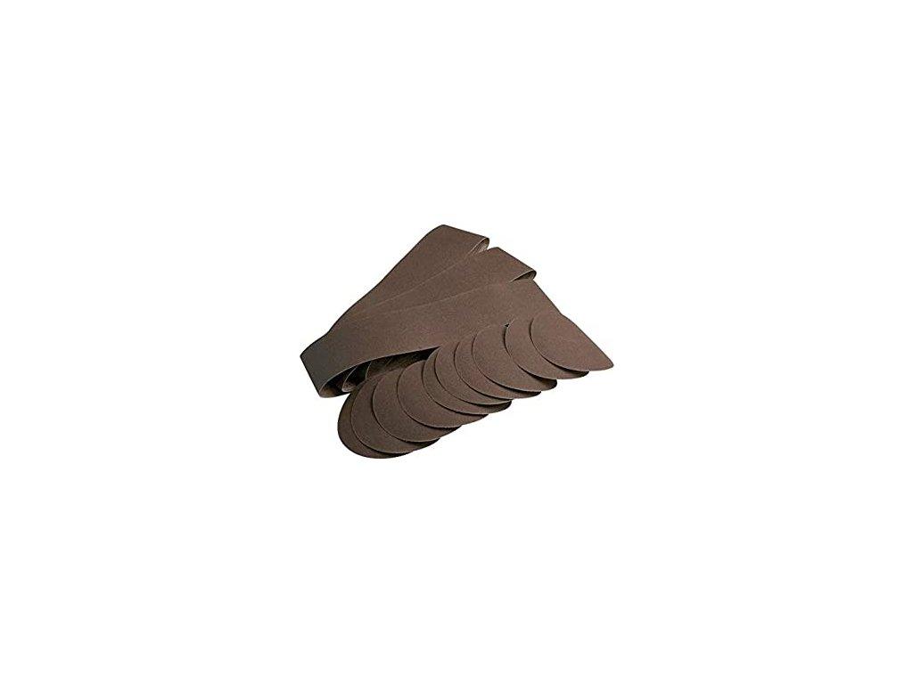 Sada brusných papírů a pásů (12 kusů)