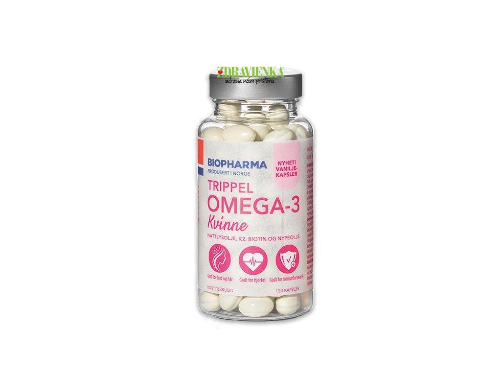 Trippel Omega-3 Kvinne - Biopharma - podpora ženskej krásy a zdravia.