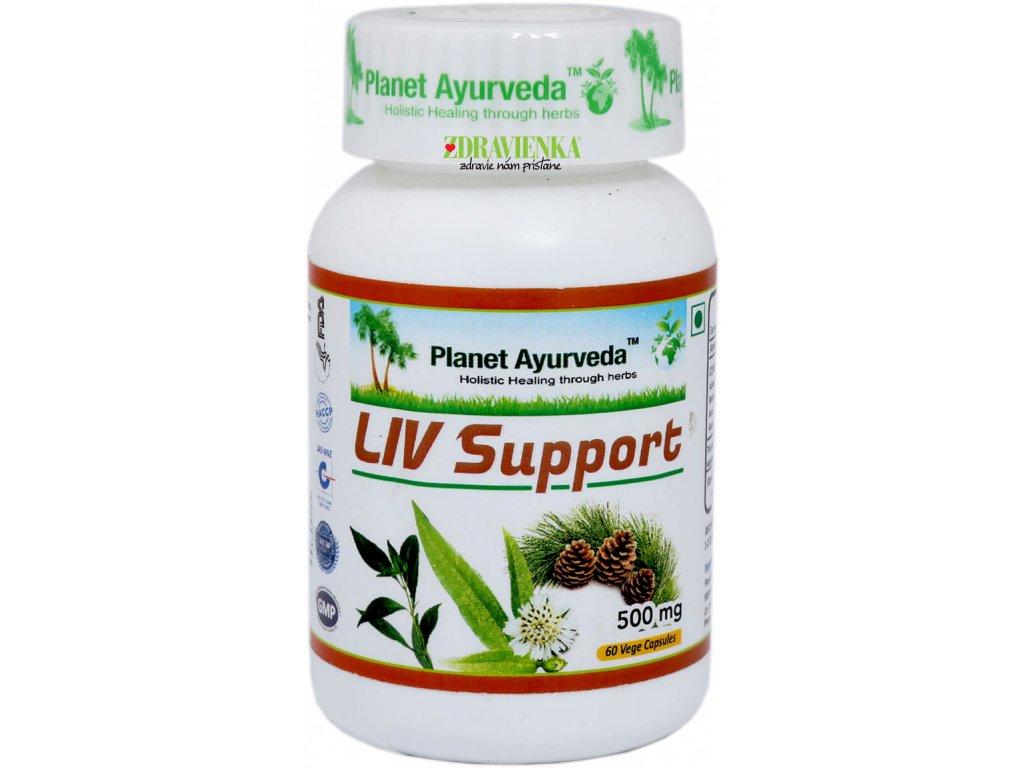 Liv Support kapsule 500mg Planet Ayurveda