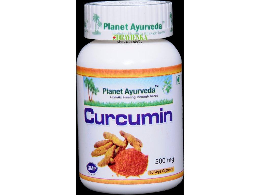 Curcumin kapsuly 500mg Planet Ayurveda