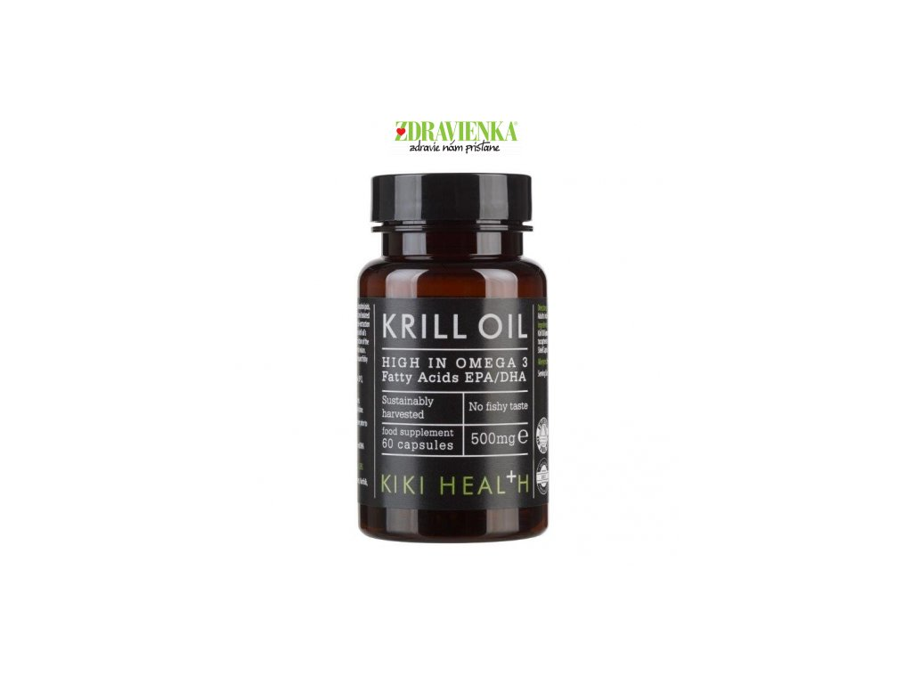 Kiki Health Krill Oil - bohatý zdroj OMEGA 3 + ASTAXANTÍN