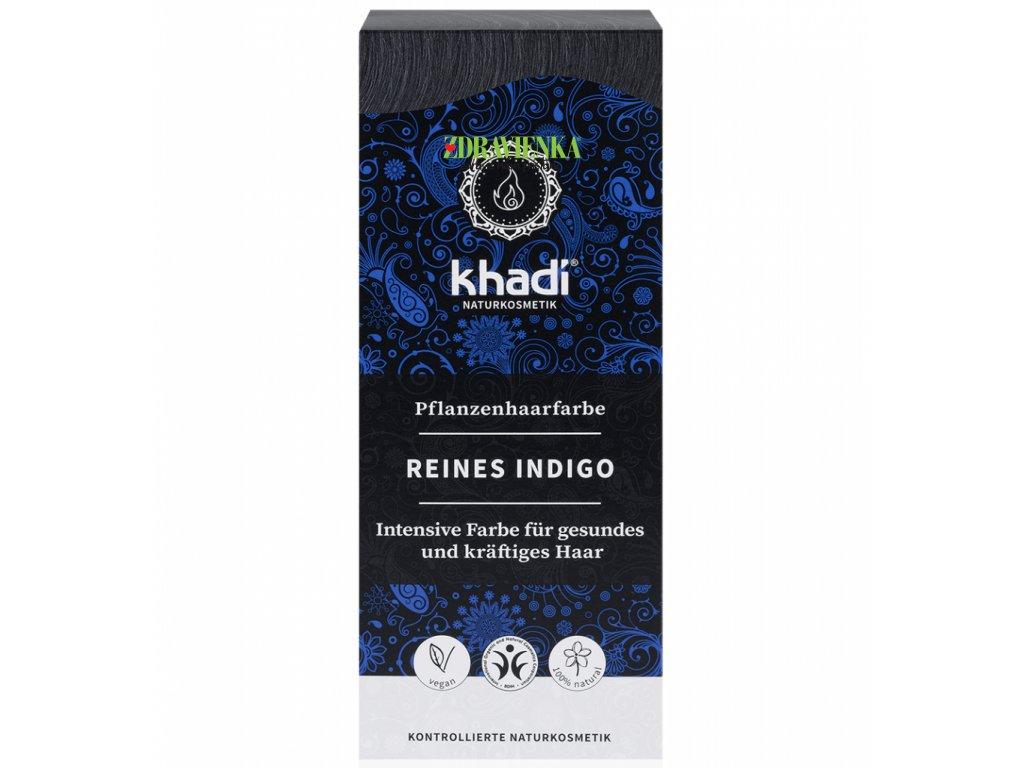 khadi rastlinna farba na vlasy ciste indigo - ZDRAVIENKA E-SHOP