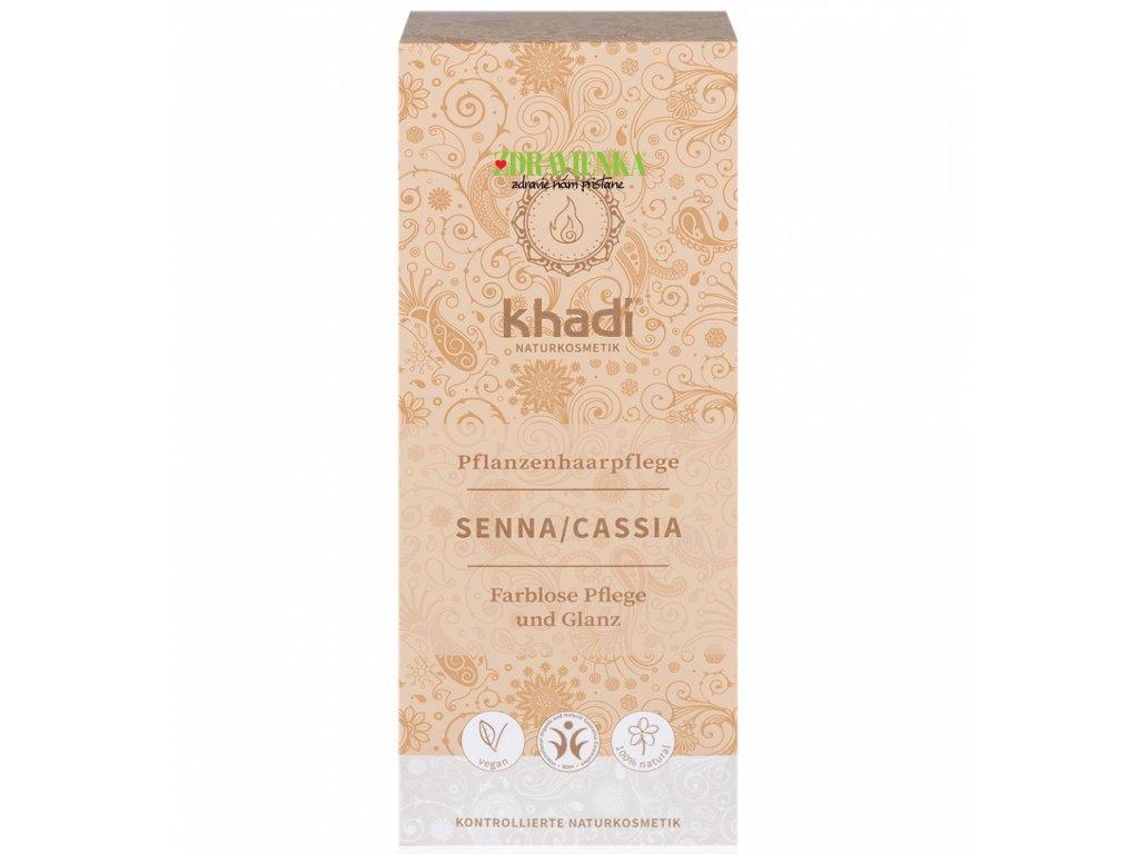 khadi rastlinna farba na vlasy neutralna senna cassia - Zdravienka e-shop