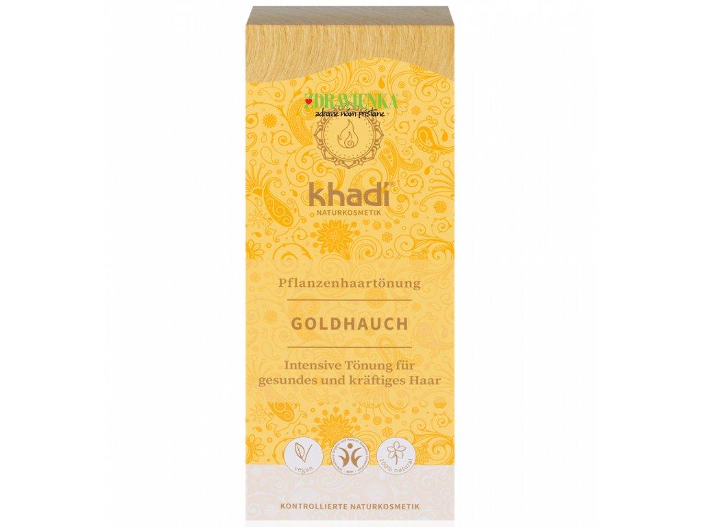 khadi rastlinna farba na vlasy zlaty preliv - Zdravienka e-shop