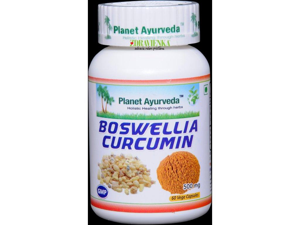 Boswellia Curcumin kapsuly 500mg - Planet Ayurveda