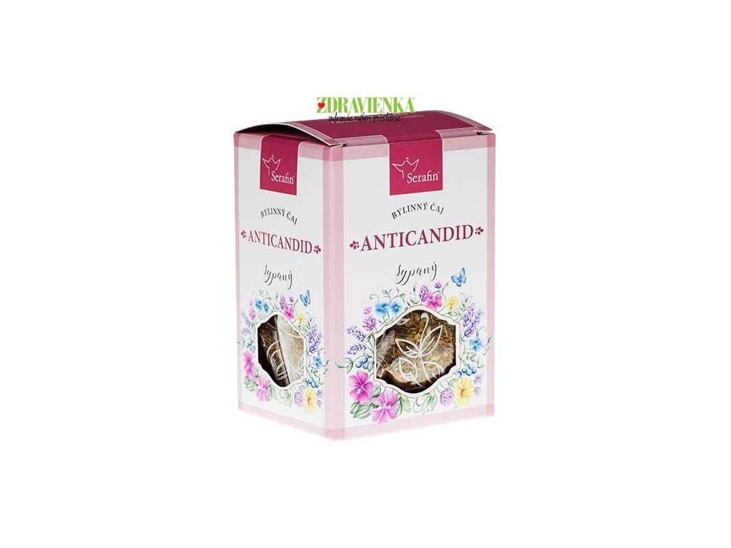sypaný bylinný čaj anticandid serafin