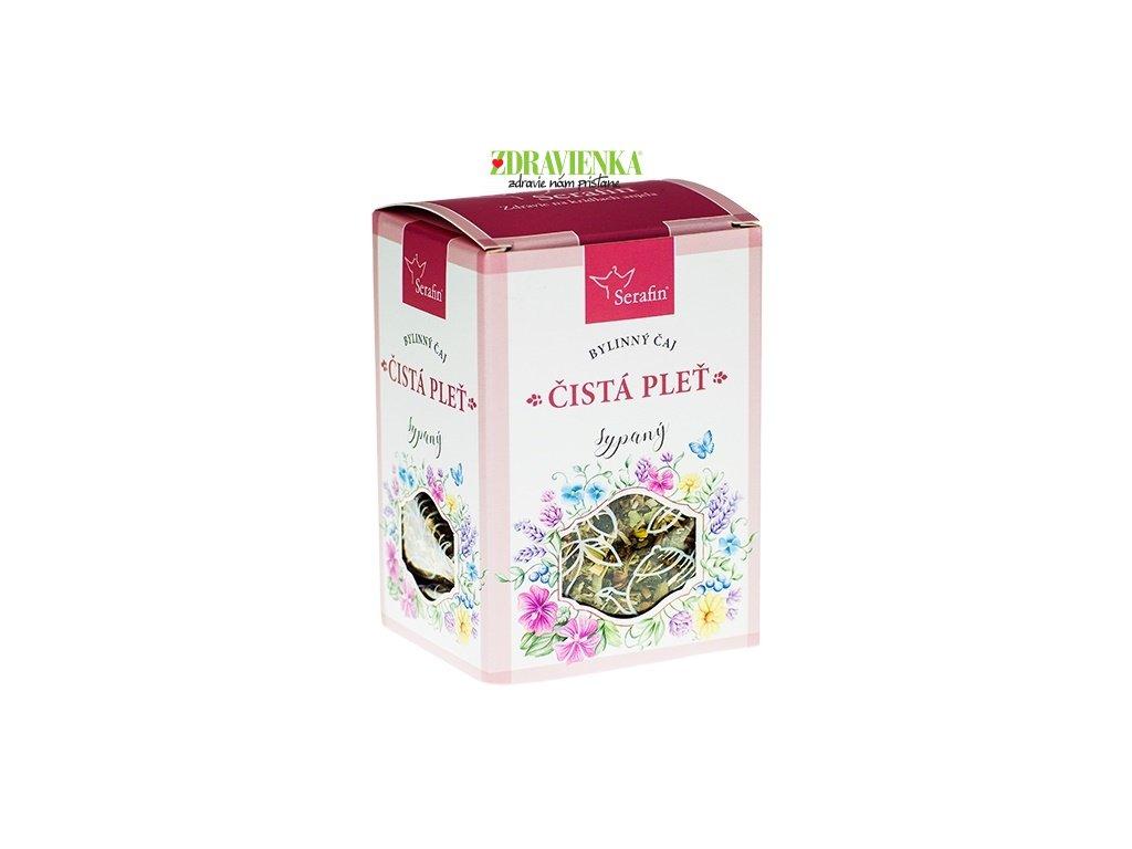 čistá pleť sypaný bylinný čaj serafin