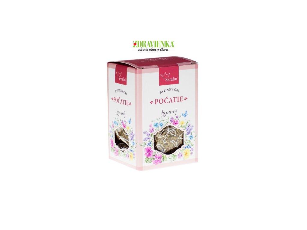 počatie sypaný bylinný čaj Serafin Zdravienka e shop