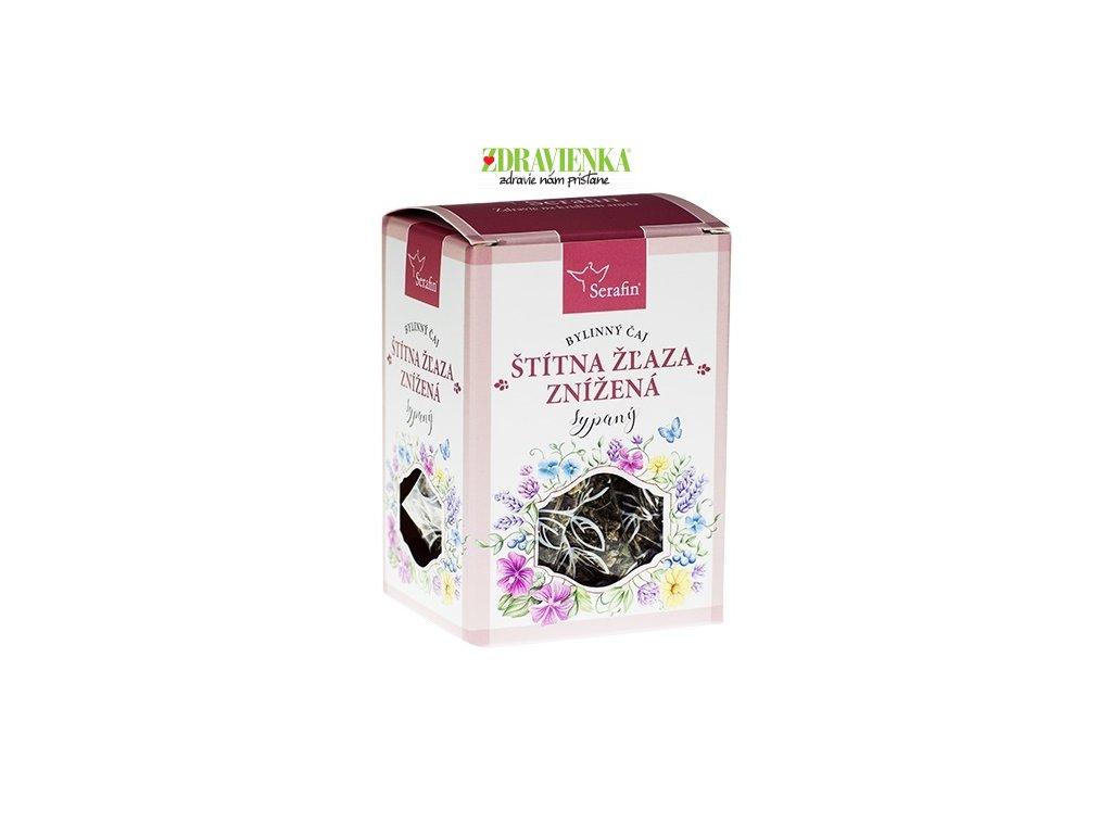 štítna žľaza znížená - sypaný bylinný čaj serafin
